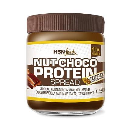Crema Hiperproteica con Whey Protein con Cacao y Avellanas, Baja en Azúcar, Sin Gluten