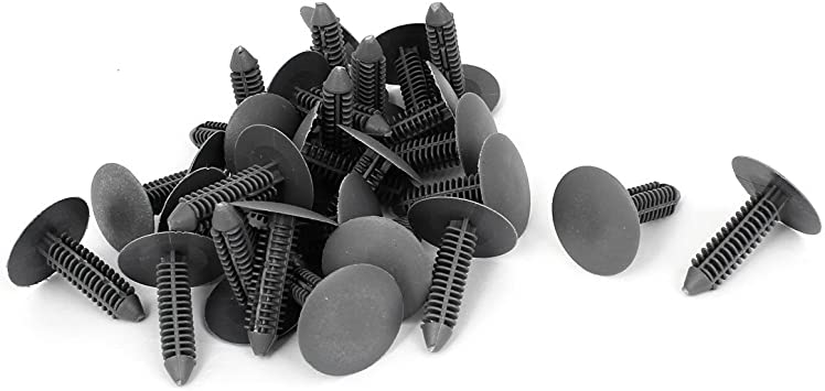uxcell 100 Pcs Gray Plastic Weatherstrip Moulding Rivet