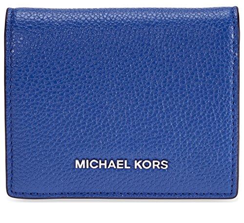 Michael Kors Mercer Flap Card Holder - Electric Blue