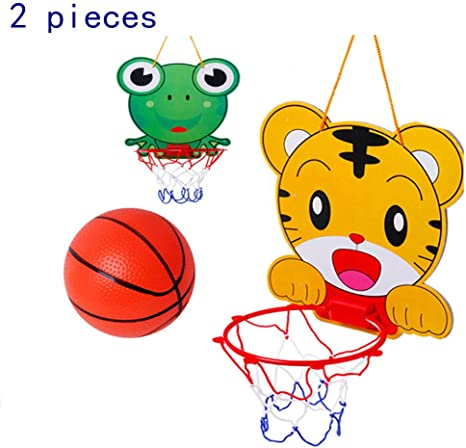 ADATEN Niños montados en la Pared Baloncesto aro 2 Juegos Mini ...