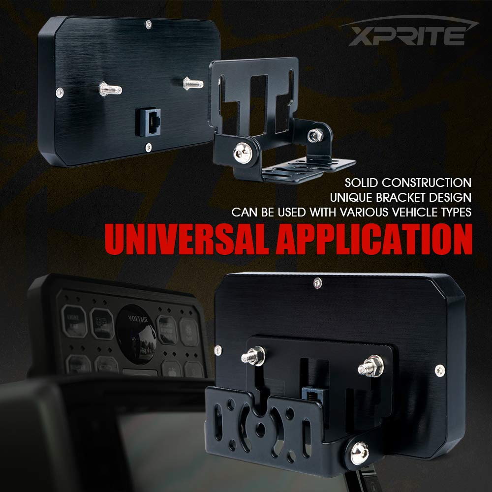Xprite Universal 8 Gang Switch Panel Box Control System for Car Truck Jeep Toyota UTV Boat RV Trailer