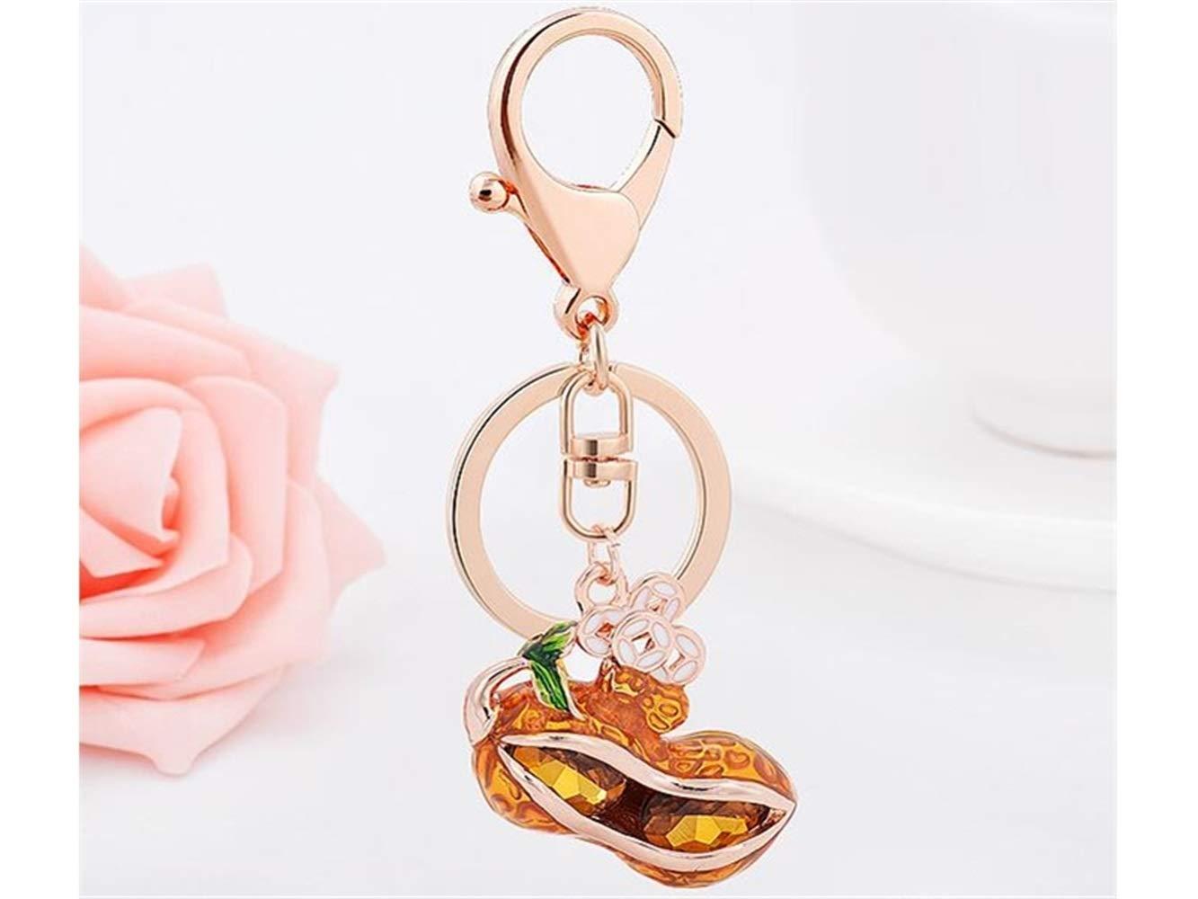Portachiavi Portachiavi Oro Rosetreee Fascino della Borsa Serie di Stile Cinese Lucky Peanuts Keychain Charms Borsa Borsa Pendente del Telefono per Le Donne Ragazze