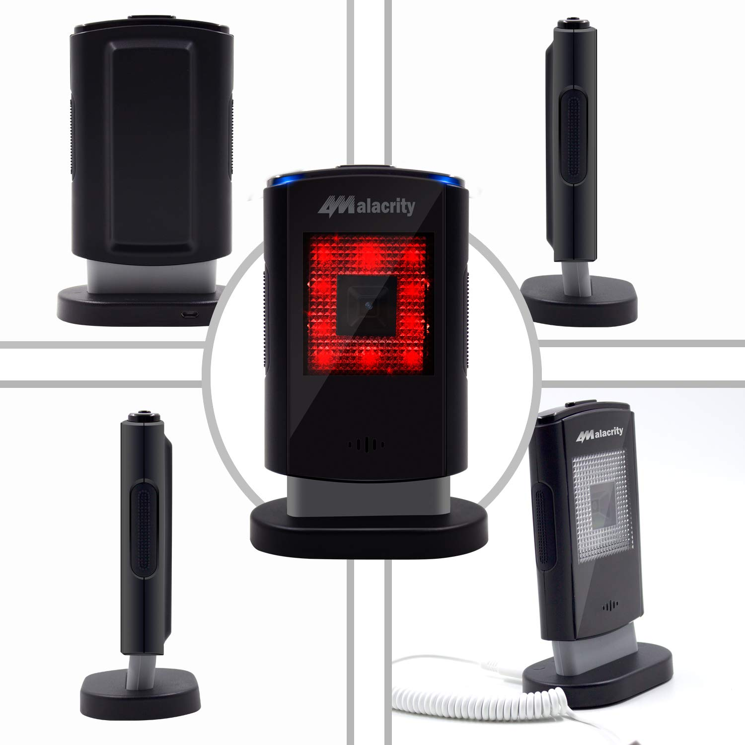 Capture Barcodes from Mobile Phone Screen Omnidirectional Desktop Bar Code Reader with USB Cable Alacrity 9203 Handsfree 2D 1D Wired Barcode Scanner