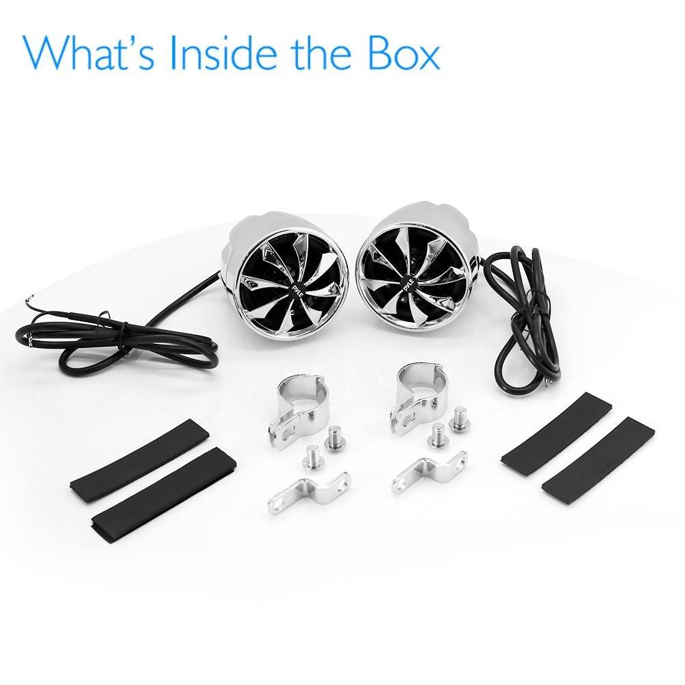 Full Range Waterproof Speaker Set - 800 Watt 3 Inch Amplifier & Audio Stereo System w/Dual Handle Bar Mounts - Aluminum Die-Cast Bullet Style Cabinet for Motorcycle, ATV or Snowmobile - Pyle PLMCS92 by Pyle (Image #7)