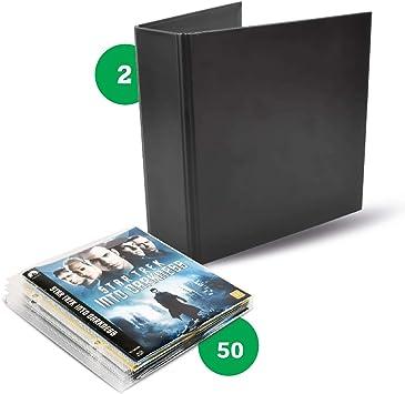 Pack Blu-Ray – 50 fundas de Blu-Ray, 2 carpetas Blu-Ray: Amazon.es: Electrónica