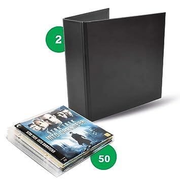 Pack Blu-Ray - 50 fundas de Blu-Ray, 2 carpetas Blu-Ray: Amazon.es: Hogar
