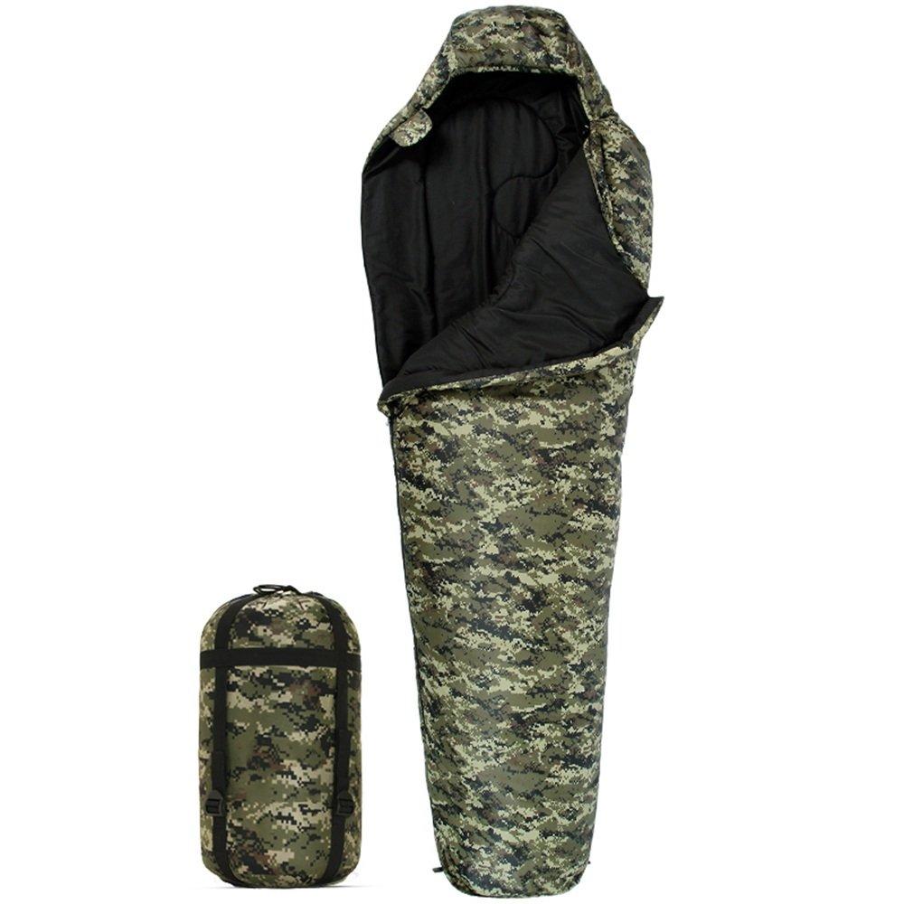 GYL SHUIDAI LWFB Mumienschlafsack Baumwolle Spleißen Wasserdicht Erwachsene Outdoor Camping Camo Schlafsack Groß Für 4 Saison 220  80 (60) cm Mumienschlafsäcke