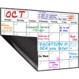 Monthly Magnetic Dry Erase Board Calendar 2019-2010, 15.8 x 11.8 inches - Your Month Goal Setting Planner - Fridge Magnetic Planning Pad, Refrigerator Whiteboard (Upgraded Stain-Resistant Surface)