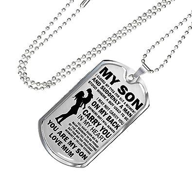 Amazon.com: AZ Team I Love My Son Quotes Pendant Dog tag ...
