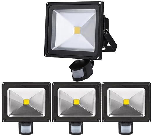 4pcs 30W Foco LED con Sensor Movimiento,ALPHA Foco Proyector ...