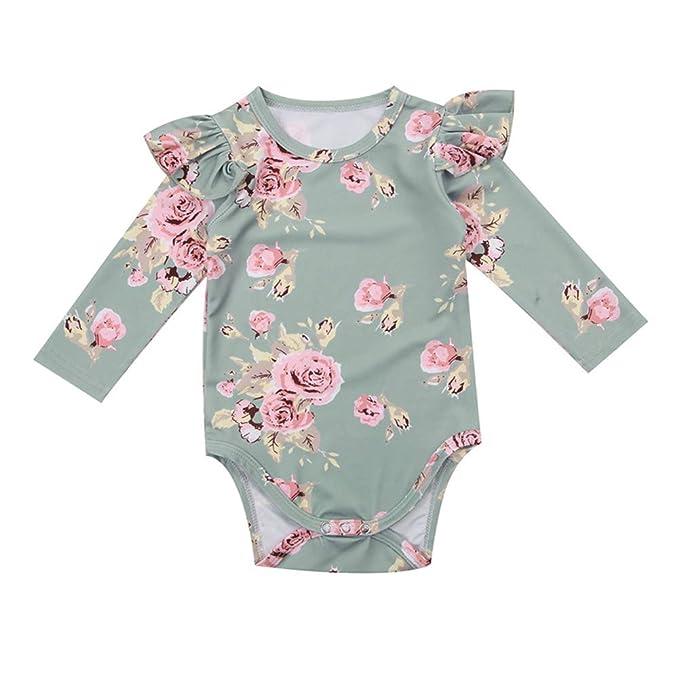 f113e701e Amazon.com  Yokidi Infant Clothes 0-18M Newborn Baby Girl Long ...