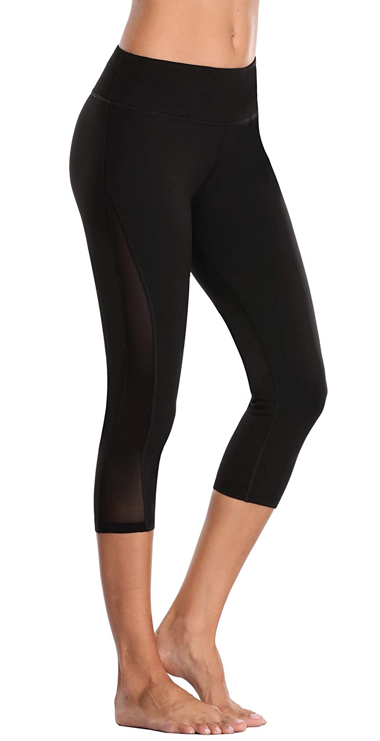 f91594ecb6374c 4-way Lightweight stretch fabric offers fabric to keep yoga pants stay up.  Capris yoga pants have the best sweat wicking and breathability, making  them the ...