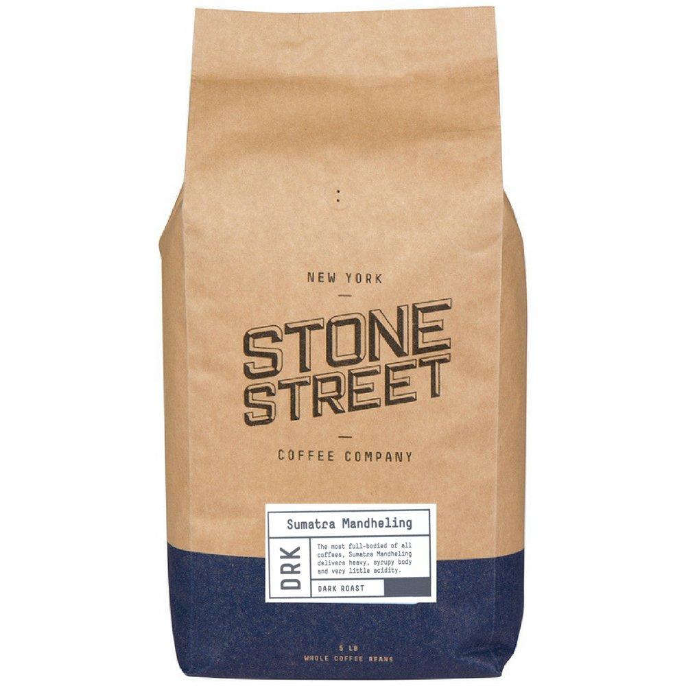 INDONESIAN SUMATRA MANDELING | Whole Bean Coffee | 5 LB Bulk Bag | Dark Roast | Single Origin Small Batch Roasted in Brooklyn | Naturally Processed 100% Arabica | Full Body, Bold, Rich, Complex Flavor by Stone Street Coffee