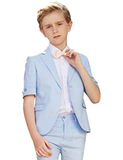 f1716aabb ELPA ELPA Boys Suits 4 Pieces Kids Summer Suits Formal Dress Wear for  Holiday Graduation