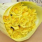 バラの花束 20本 カラー:イエロー 【限定価格】 フラワーギフト 生花 誕生日 還暦 退職 結婚 プレゼント 贈り物 父の日