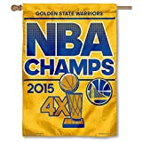 WinCraft Golden State Warriors Official NBA 27 inch x 37 inch 2015 NBA Finals Champions Vertical Flag by 060365