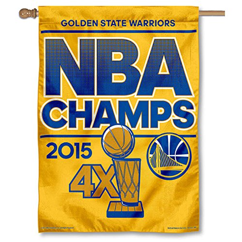 WinCraft Golden State Warriors Official NBA 27 inch x 37 inch 2015 NBA Finals Champions Vertical Flag by 060365 by WinCraft