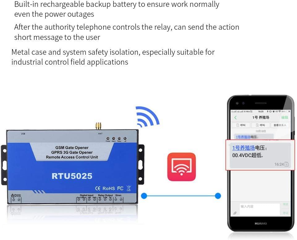 Inteligente Sistema de Controlador Soporte 850//900//1800//1900 MHz EU RTU5025 Abridor de Puerta gsm Control Remoto on//Off con Gratuito SMS