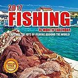 2017 Fishing Calendar - 12 x 12 Wall Calendar - 210 Free Reminder Stickers