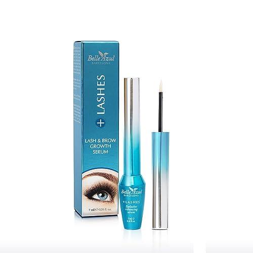 Belle Azul + Lashes – Serum alargador de pestañas. Nutre, fortalece y potencia el crecimiento, grosor y espesor de las pestañas. 7ml