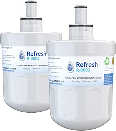 Fits Samsung RF268 Refrigerators 3 Pack Refresh Replacement Water Filter