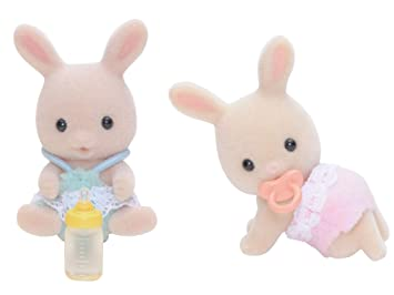 Twins c -87 de Sylvanian Familias mu?eca conejo Leche (Jap?n importaci?n / El paquete y el manual est?n escritos en japon?s): Amazon.es: Juguetes y juegos