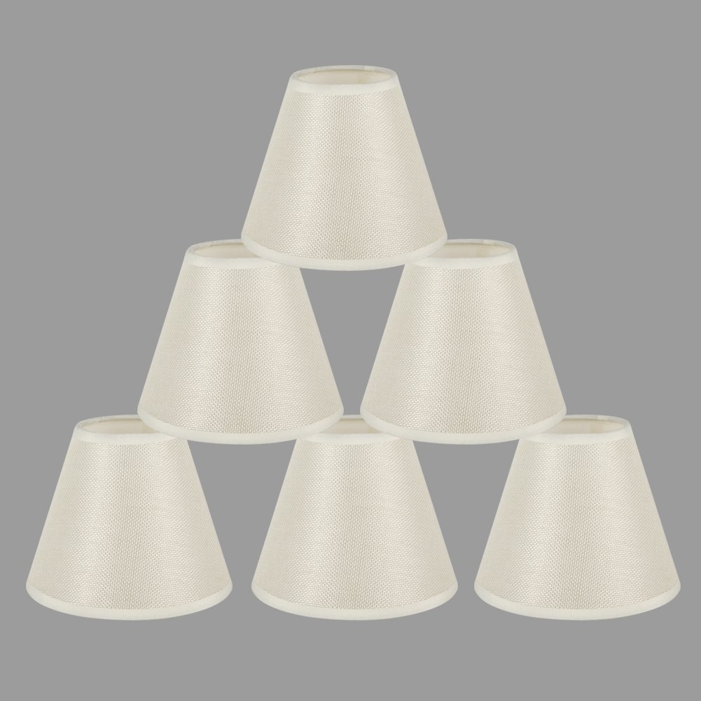 Onepre cream clip on chandelier lamp shades hardback candle linen onepre cream clip on chandelier lamp shades hardback candle linen lampshade off white 6 inch set of 6 amazon kitchen home mozeypictures Image collections