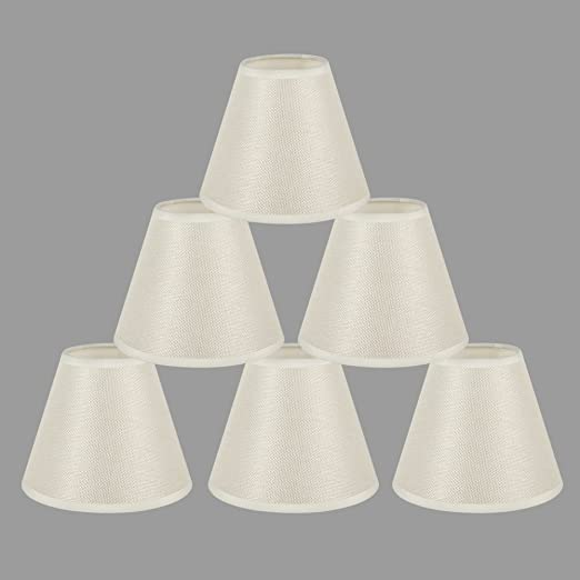 Onepre cream clip on chandelier lamp shades hardback candle linen onepre cream clip on chandelier lamp shades hardback candle linen lampshade off white 6 inch set aloadofball Choice Image