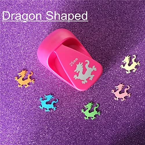 Amazon.com : Lavenz M size Dragon shaped save power paper/eva foam craft punch Scrapbook Handmade puncher DIY animal hole punches : Office Products