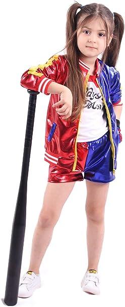 YOSICIL Adulta Niñas Disfraz Suicide Squad Harley Quinn con ...