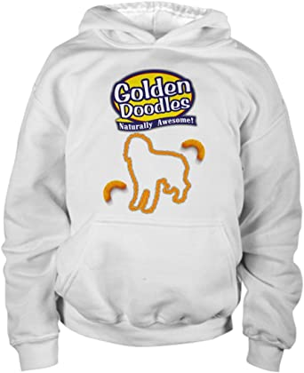 Designed and Printed In The USA mmandiDESIGNS Mini Goldendoodle Hoodie White Unisex Hooded Sweatshirt