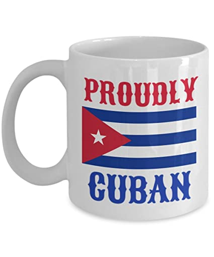 6d9660498ae7 Image Unavailable. Image not available for. Color: Proudly Cuban Coffee Mug  - Birthday Gift For Cuban Wife Husband Mom Dad Him Her Men