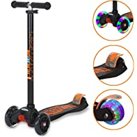 Banne Scooters for Girls Adjustable Height Lightweight 3 Wheel Scooter with Flashing Wheels for Kids 3-14 Year Old