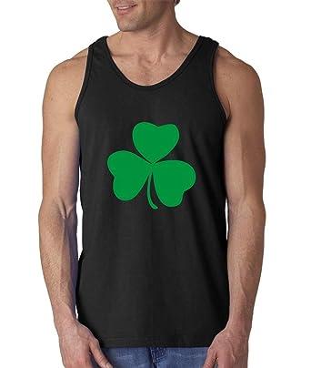 e17c3fc4d Irish Shamrock Lucky Men's Tank Top St. Patricks Day Tank Tops Small Black  ...