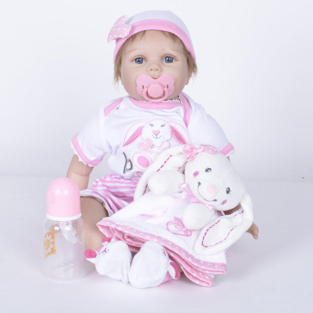 Nurturing Dolls Muñeca Reborn Ojos Azules La Vida Real Soft Vinilo De Silicona 55cm Lifelike Recién Nacido Bebé Regalo De Juguete