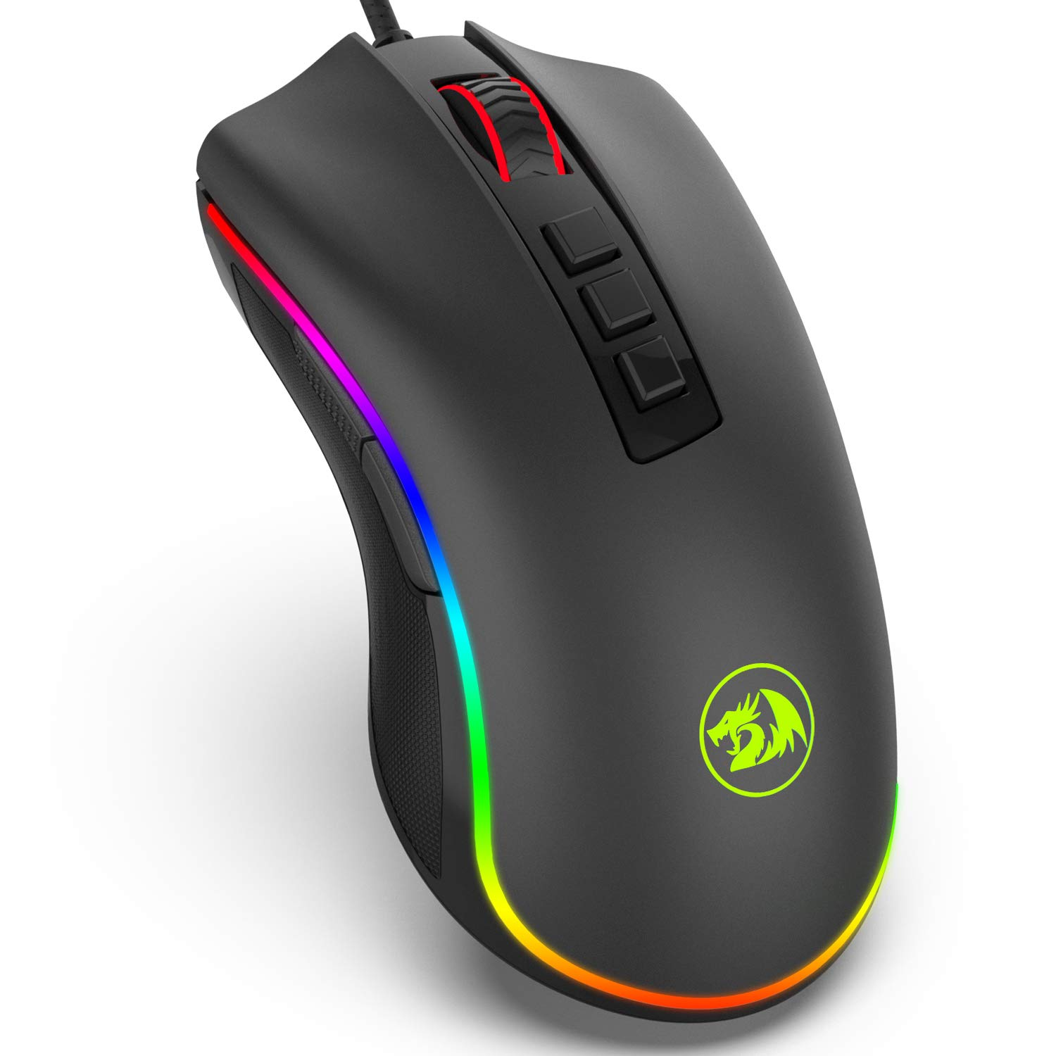 5be374f8fe6 Redragon M711 COBRA Gaming Mouse with 16.8 Million RGB Color Backlit,  10,000 DPI Adjustable,