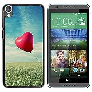 Be Good Phone Accessory // Dura Cáscara cubierta Protectora Caso Carcasa Funda de Protección para HTC Desire 820 // Love Balloon Love