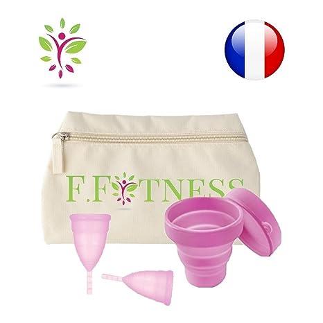 31cc3ae859 LOT 2 FIT CUP coupe menstruelle taille 1 et 2 + trousse de rangement  lavable +