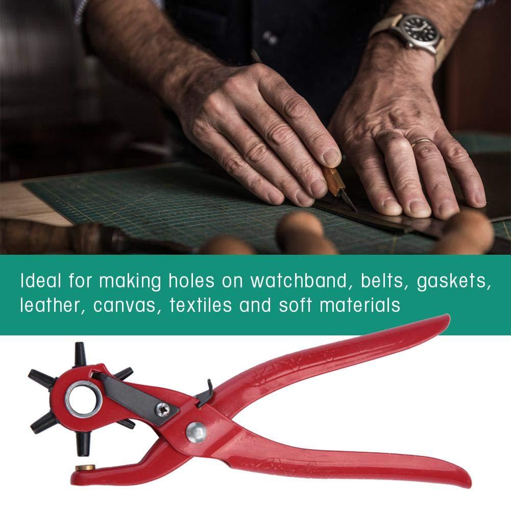 9 pollici Punzonatura Pinze Cintura In Pelle Punch Pinza Occhiello Snap Punch Pinze Famiglia Leathercraft Strumento Pinze a mano Cinture Fori Puncher Strumento