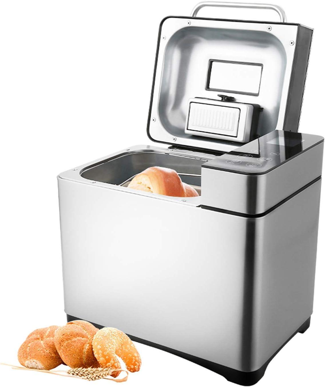 Coocheer - Panera con 19 programas de horneado, función de temporizador de 15 horas, panificadora con caja de ingredientes automática y pantalla LED, 710 W plata: Amazon.es: Hogar