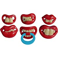 eMarto 6 Pcs Novelty Very Funny Baby/toddler Dummies Soothers Pacifiers
