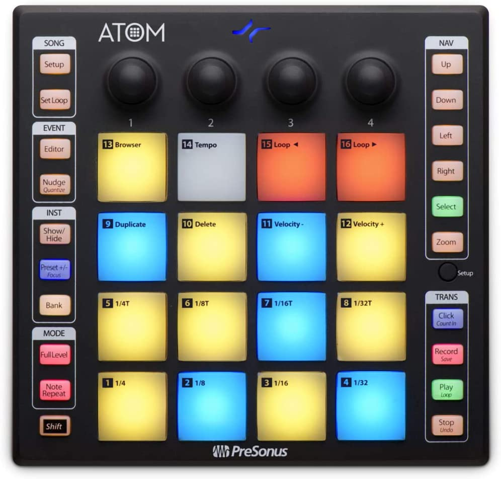 PreSonus ATOM Production and Performance 16 Pad MIDI Controller