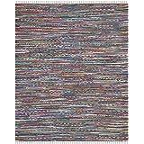 Safavieh Rag Rug Collection RAR121M Hand Woven and Multi Cotton Area Rug, 8 feet by 10 feet (8' x 10')