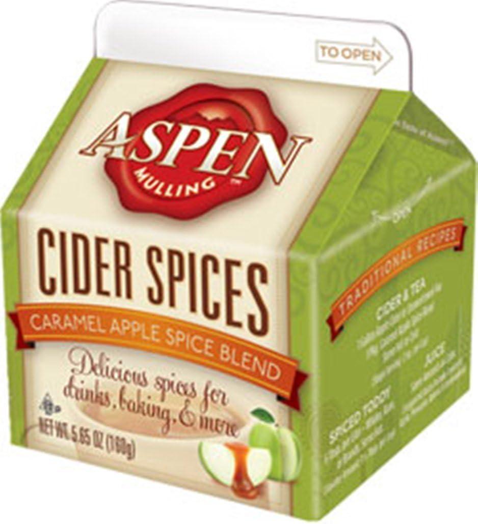 Aspen Mulling Cider Spice - Caramel Apple Spice Blend - Apple Cider Drink - 5.65 oz Carton