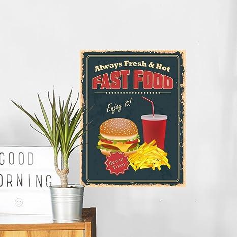 Amazon.com: wallmonkeys wm725 Vintage comida rápida Cartel ...