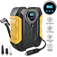 $24 » Surwit Portable Tire Inflator Pump, DC 12V Car Tire Air Compressor, Auto Shut Off Feature, Digital LCD Display, Emergency LED…