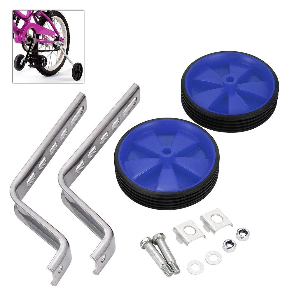 Ruedines para bicicleta, para ruedas de 12 a 20 pulgadas, ideal para aprendizaje infantil, de BluFied, azul