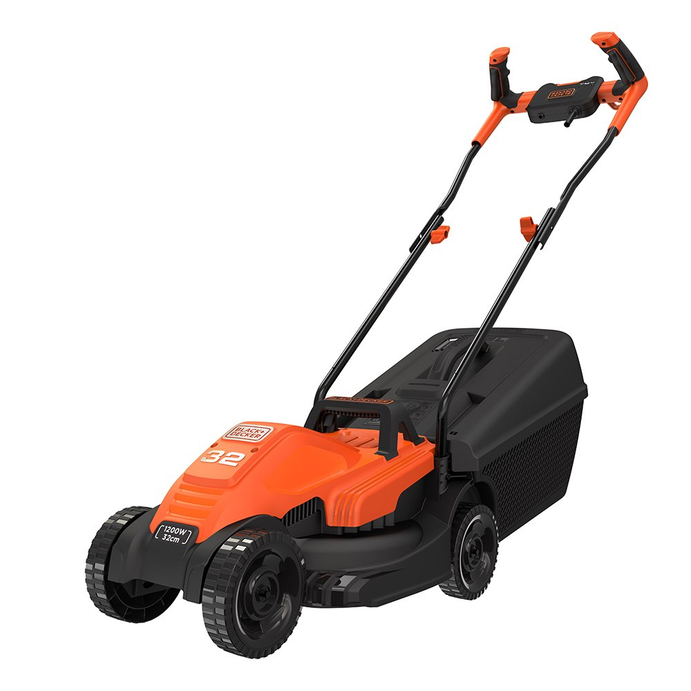 BLACK + DECKER BEMW451BH-GB Lawn Mower with Bike Handle, 1200 W, 240 V, 32 cm