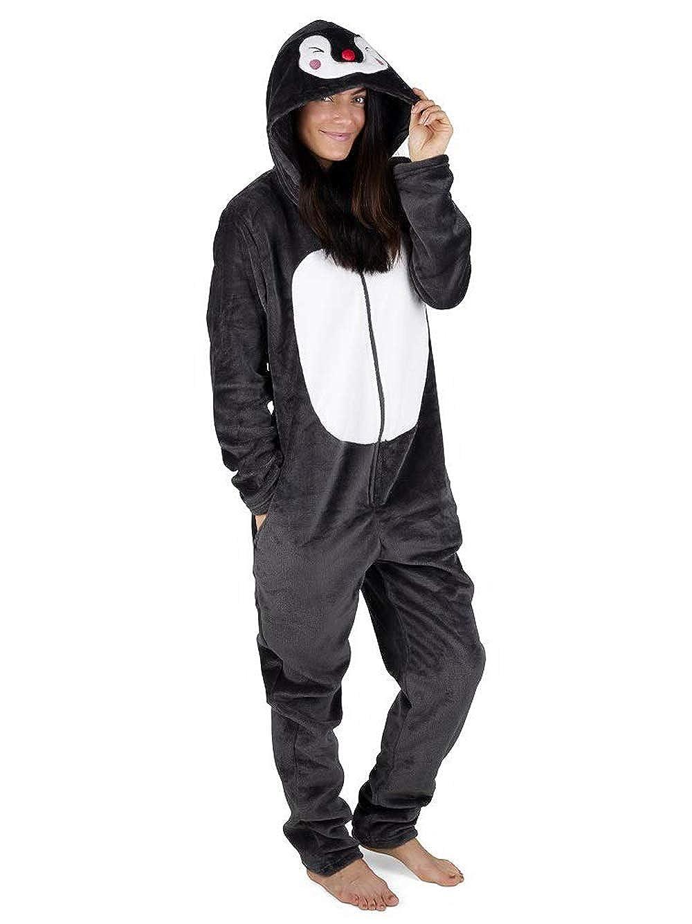TALLA S (8-10). Pijama Entero Mujer con Unicornios Koala Perro Gato Koala Dinosaurio Pijamas de Animales Onesie Todo en Uno