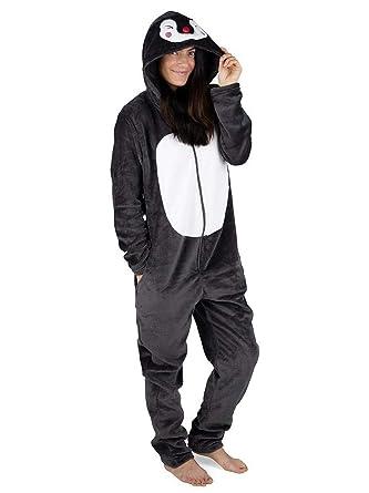 CityComfort Womens Onesie Fleece Twosie Women Pyjamas Jumpsuit for Woman  Rainbow Unicorn Onesies Koala Penguin Cat Pug Dinosaur  Amazon.co.uk   Clothing 53b61c5fe